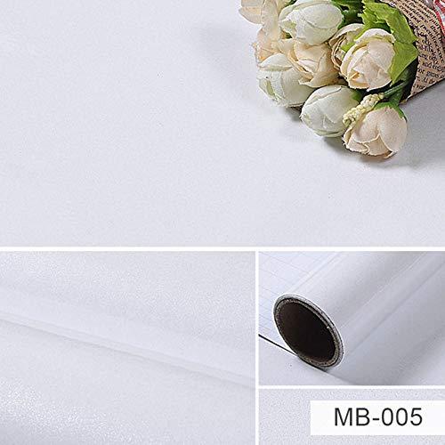 lsaiyy Carta da Parati autoadesiva Vinile Bianco Carta Impermeabile Armadio da Cucina Adesivi a Prova di Olio Armadio Mobili da Tavolo Pellicola Decorativa MB-005 10m x 40cm