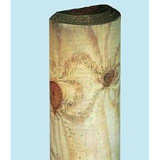Pfähle, imprägniert, halbrund, 200 cm, Stärke 8 cm für Zäune