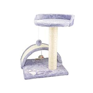 arbre chat avec griffoir niche et jouet pour chat 50 cm gris cuisine maison. Black Bedroom Furniture Sets. Home Design Ideas