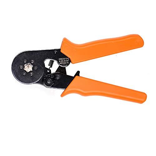 NUZAMAS Einstellbare Ratschenhülse Hexagonal Sechskant-Crimpzange Werkzeug 0,25 ~ 6,0 mm AWG 23 - 10