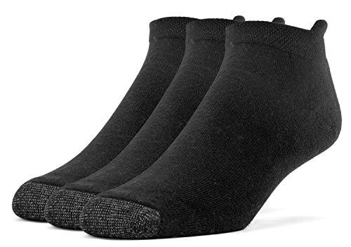 Galiva Herren Socken, Sportsocken, gepolsterte extra weiche, Baumwoll Laufsocken - 3 Paar, Klein, Schwarz (Gepolsterte Socken No-show)