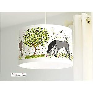 Lampenschirm - Pferde - 35cm - Wunschfarbe und Größe auf Anfrage