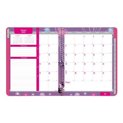 Blueline siebdruckverfahren Akademischer Monatsplaner, Juli 2014bis August 2015, 27,9x 21,6cm, Pink, 1Planer (ca755.01–15) (Termin-kalender 2015 Monatlich)
