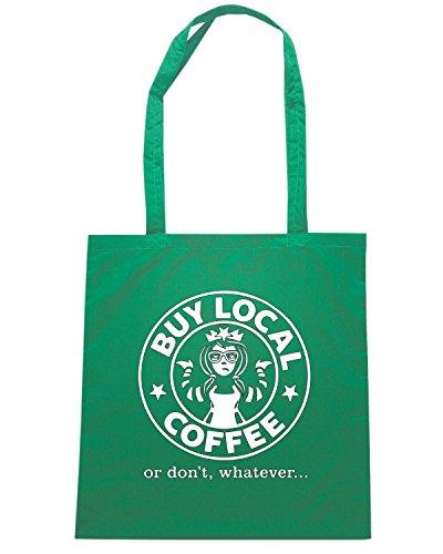 T-Shirtshock - Borsa Shopping FUN0204 08 12 2013 BuyLocalCoffee T SHIRT det Verde