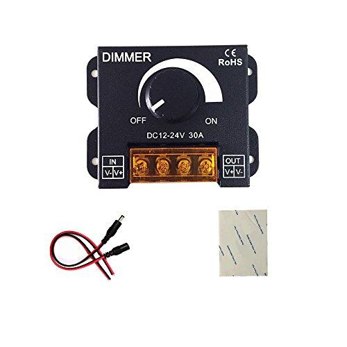 (verbesserte Version)12V 24V 30A LED Dimmer Kontrolleur für Einzelfarbe LED Streifen Beleuchtung Lampe Band Licht Schwarz Knopf Kontrolle Helligkeit -