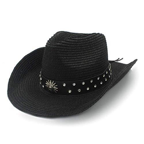 Sehr weich und angenehm zu tragen Frauen Männer Stroh Western Cowboy Hat für Gentleman Sombrero Caps WITT Fashion Gürtel