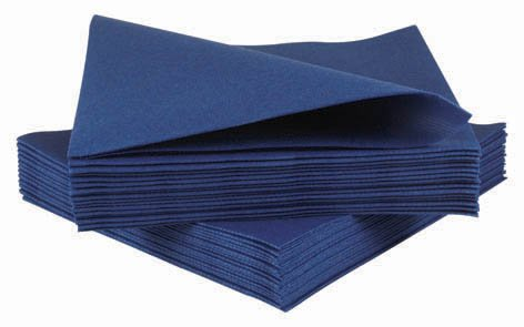 Pack of 50 Luxury Airlaid Royal Blue Paper Napkins - Linen Feel