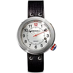 Chotovelli Gauge Italian Men's Watch Automotive dial Black leather Strap 88.02