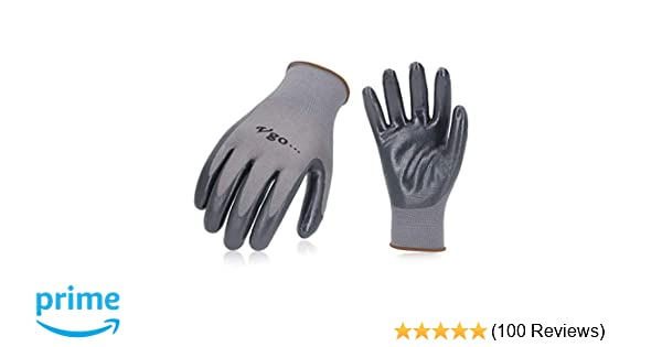 10 x NEW NITRILE COATED WORK GLOVES CONSTRUCTION GARDENING BUILDERS DIY HOME