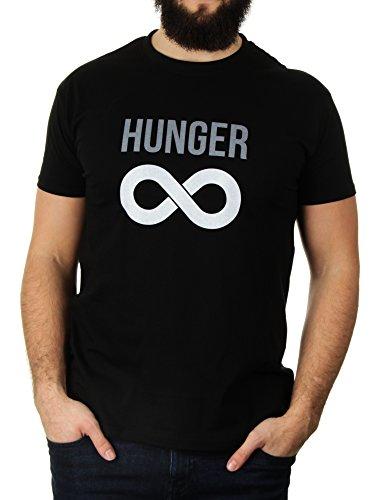 Infinite Hunger - Herren T-Shirt von Kater Likoli Deep Black