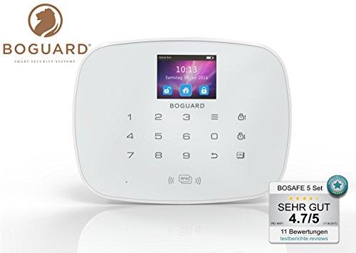 Funk GSM Alarmanlage BOSAFE 5 –Zertifiziert nach EN 50131/1 Klasse 2, KFW Förderfähig, STARTER-KIT BOSAFE 5 inkl. 1x Außenbeleuchtung mit Bewegungsmelder