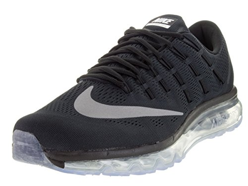 Nike Air Max 2016, chaussure de course homme BLACK/WHITE-DARK GREY