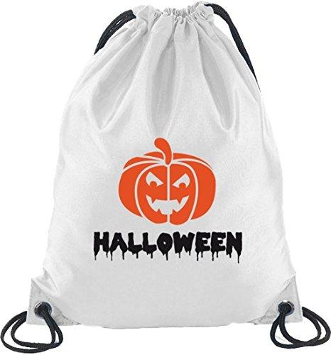 Borsa Sportiva Dello Zaino Del Costume Di Halloween Borsa Sportiva Dello Zaino Con Il Motivo Della Zucca Di Halloween Bianco