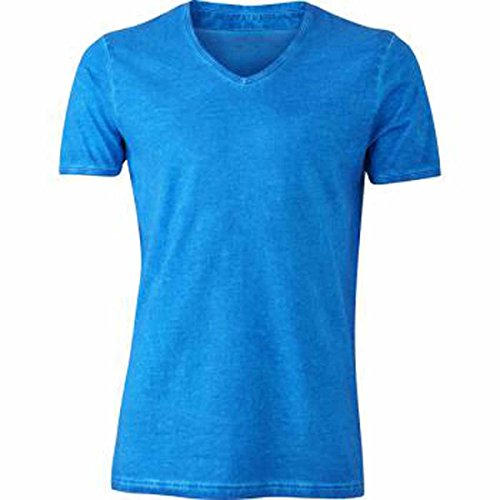 JAMES & NICHOLSON -  T-shirt - Basic - Maniche corte  - Uomo bleu atlantique