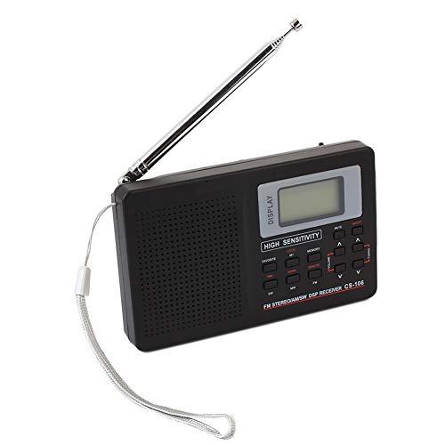 Bolange Mini Radio Pocket Digital Receptor de Radio FM Alimentado por batería con Auricular Gris