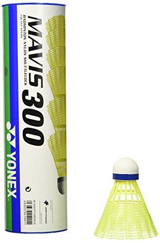 Yonex Mavis 300 Shuttlecock - Gelb (Gelb / Blau) - Set aus 6