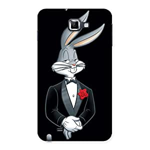 Gorgeous Smart Bunny Black Red Back Case Cover for Galaxy Note