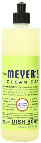 Lemon Verbena , Pack of 6 : Mrs. Meyer's Clean Day Dish Soap, Lemon Verbena, 16-Ounce Bottles (Case of 6)
