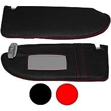 Aerzetix–Funda tapiz de parasol de piel costuras rojas para Seat Ibiza 6J 2009+