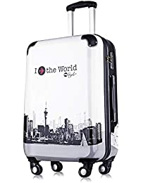 FLYwithme ABS + PC 4 Wheels Luggage Trolley Bag // Travel Suitcase // Trolley Travel Bag 20 Inch Cabin Luggage...