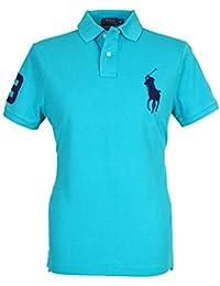 d6269576eeb2 Ralph Lauren Polo - Manches Courtes - Homme Vert Bleu Sarcelle