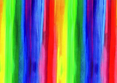 Premium Geschenkpapier Regenbogen (Rot Blau Grün Gelb), Secare Rolle, Geschenkverpackung Größe 50cm x 50m