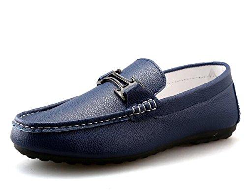 Beauqueen Pattini Uomo Comodità Mocassini Vuotosi Soft Outsoles Slip-on Slip-ons Scarpe casuali UE Size 38-44 Blue