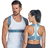 BACK Rücken-Haltungskorrektur | Schulterbandage | Bessere Körperhaltung, Verminderte Schulter Und Nackenschmerzen | Verstellbare, Bequeme & Diskrete Schlüsselbeinstütze | Damen & Herren