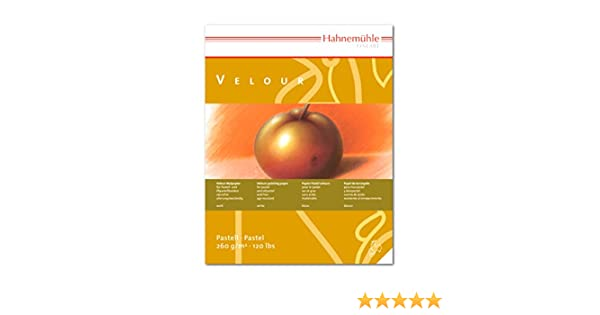 weiß 10 Blatt Hahnemühle Pastellpapier Velour-Block 260g//m² 36x48cm