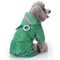 Chubasquero para perro ligero y con capucha. Ropa de mascota impermeable para actividades al aire libre. Para perros pequeños, medianos, grandes, y extragrandes. De Pawaca