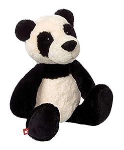 Sigikid 42266Serie Sweety Peluche de Peluche-Peluche de Oso Panda shaggi Shanghai, 31cm, Negro/Blanco
