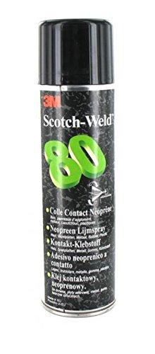 3M Adesivo Spray 80 Colla Spray per Gomma e Vinile, Resistente alle Alte Temperature, 500 ml, 1 Pezzo