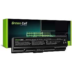 Green Cell® Standard Série PA3534U-1BRS Batterie pour Toshiba Satellite A200 A300 A500 L200 L300 L500 Ordinateur PC Portable (6 Cellules 4400mAh 10.8V Noir)