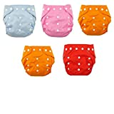 #1: N&M New Adjustable Reusable Lot Baby Washable Cloth Diaper Nappies Pack Of 5 - Color May Very