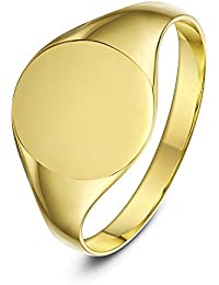 Theia 9 ct Gold Oval Shape Heavy Weight Ladies Signet Ring