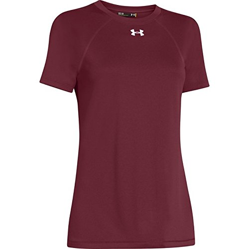 Under Armour Locker leggero a maniche corte maglietta della donna rosso/bianco (Cardinal/White)