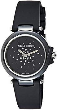 Nina Ricci Women's Grey Dial Rubber Band Watch - N0680