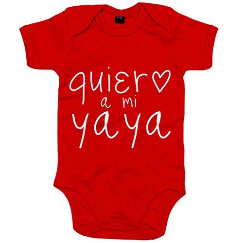 Body bebé Quiero a mi yaya - Rojo, 6-12 meses