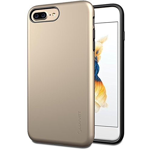 iPhone 7 Plus Fall, luvvitt [Super Armor], Case Best Heavy Duty Dual Layer Tough Cover für Apple iPhone 7 Plus gold