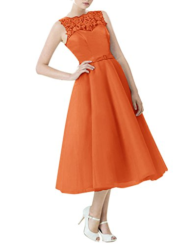 Find Dress Vintage années 50 's Style Audrey Hepburn Rockabilly Swing, Robe de soirée cocktail à Carreau Orange