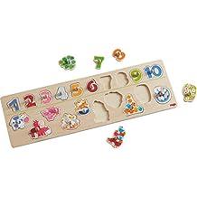 Holzspielzeug Puzzle mit 21-23 Steckteilen aus Holz Bauernhof oder Verkehr wähle 1 Stück aus