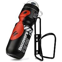 1pc 650ml botella de agua de aluminio para deportiva botella térmica libre, a hacer deporte, al campo, al trabajo, a la playa con 1pc soporte aluminio de ...