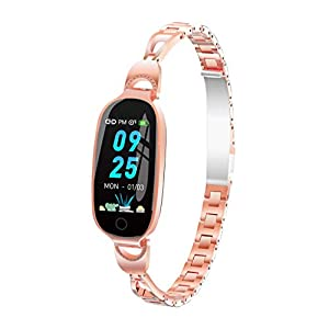 DIKHBJWQ L18 Android Smartwatch Männer Bluetooth Armband Frauen Analog-Digital Armbanduhr Automatik Wasserdichtes Uhren Farbdisplay Blutdruck Pulsmesser Smart Watch Digital Uhr