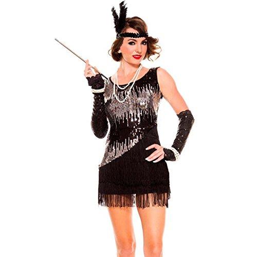 Sequin Sparkly Fearless Flapper Kostüm (M)