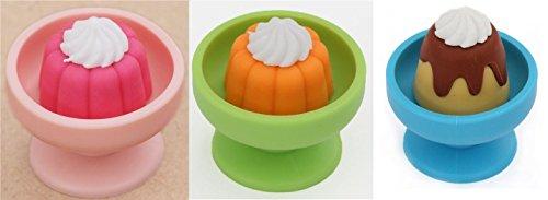 Iwako 3 pezzi pudding della gelatina in ciotola Eraser puzzle giapponese dal Giappone