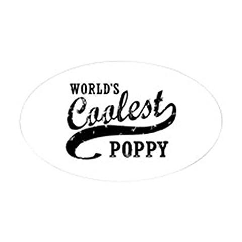 CafePress - World's Coolest Poppy Sticker (Oval) - Oval Bumper Sticker Car Decal