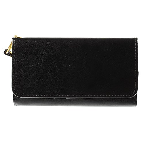 "DFV mobile - Cover Premium Crazy Horse PU Leather Wallet Case with Card Slots for =>      APPLE iPhone 6s / [4,7""] > Black Black"