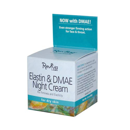 Elastin and DMAE Night Cream for Dry Skin 1.5 oz