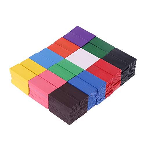 ZOUCY Domino Blocks, 120Peeces / Set Colored Rainbow Domino Blocks Bambini Giocattoli di Legno Early Learning Domino Giochi Giocattoli educativi