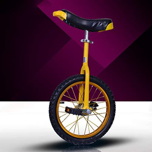 Lahshion Balance Radfahren Übung, einstellbares Einrad 16 Zoll und 18 Zoll,Yellow,18inches